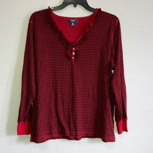 Chaps Long Sleeve Top  Size 2X